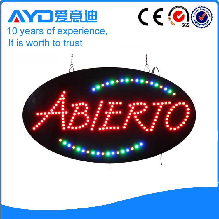 LED Abierto Signs For Sale title=
