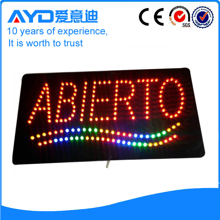 LED Abierto Signs For Sales title=