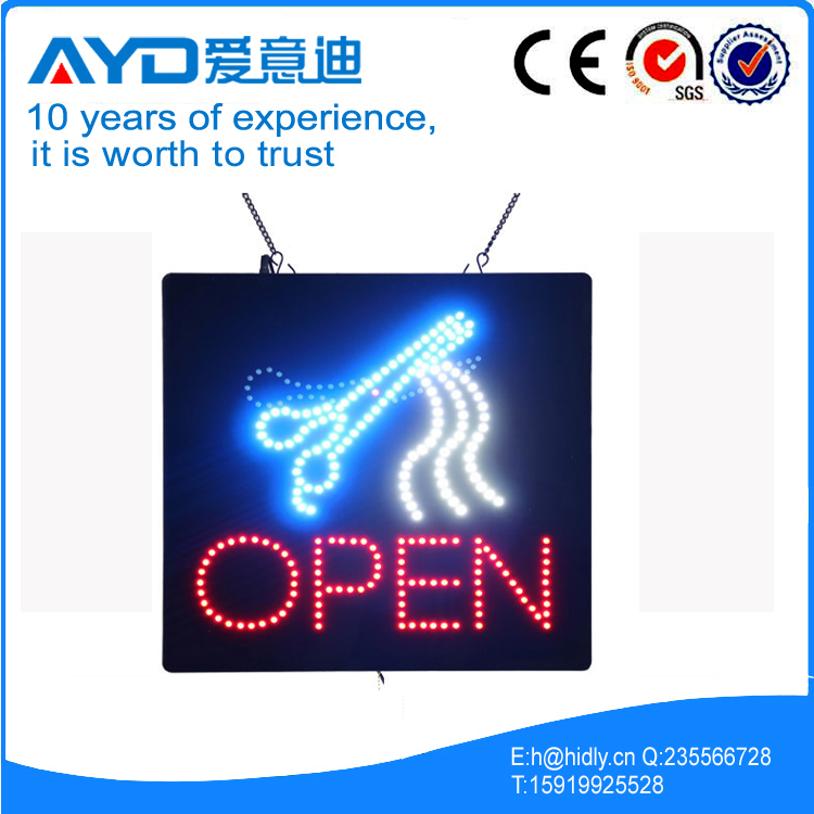 AYD Hair LED Open Sign title=
