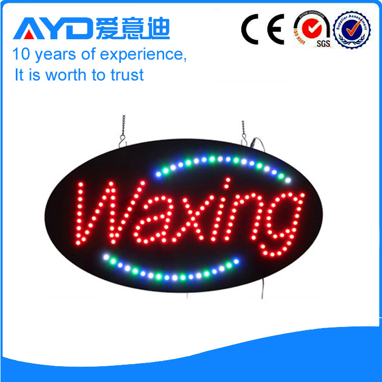 Indoor Super LED Waxing Signs For Sale