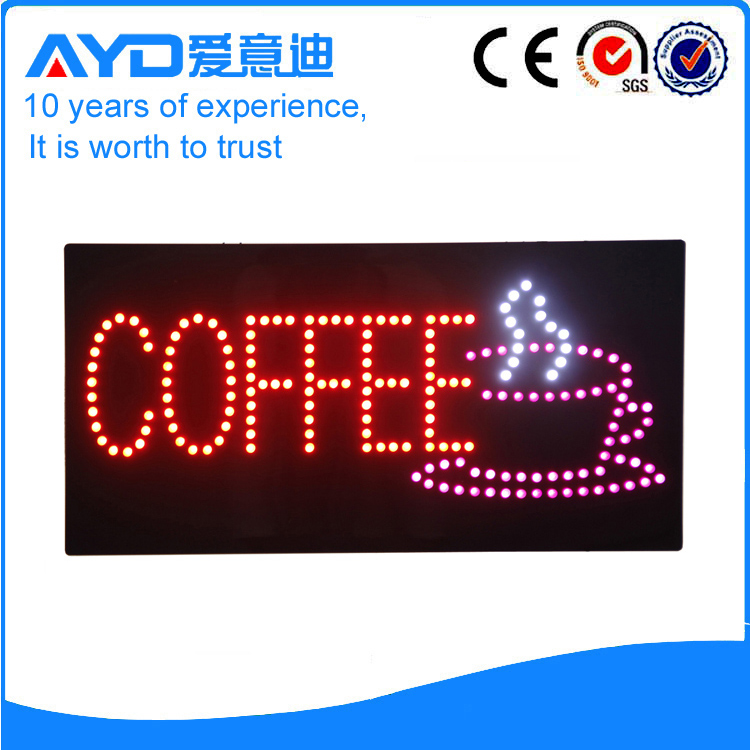 Indoor Good Design LED Coffee Signs For Sale title=