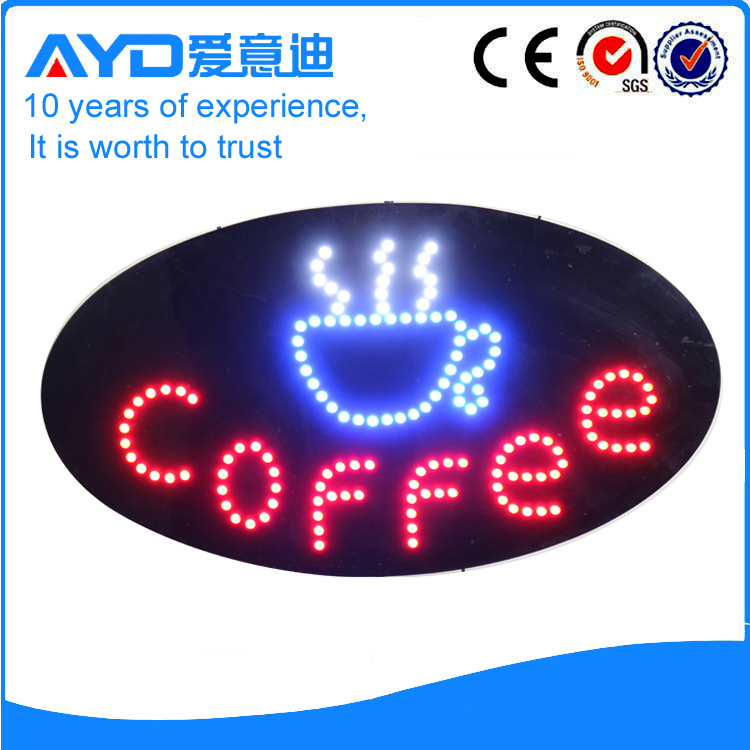 Indoor Super LED Coffee Signs For Sale