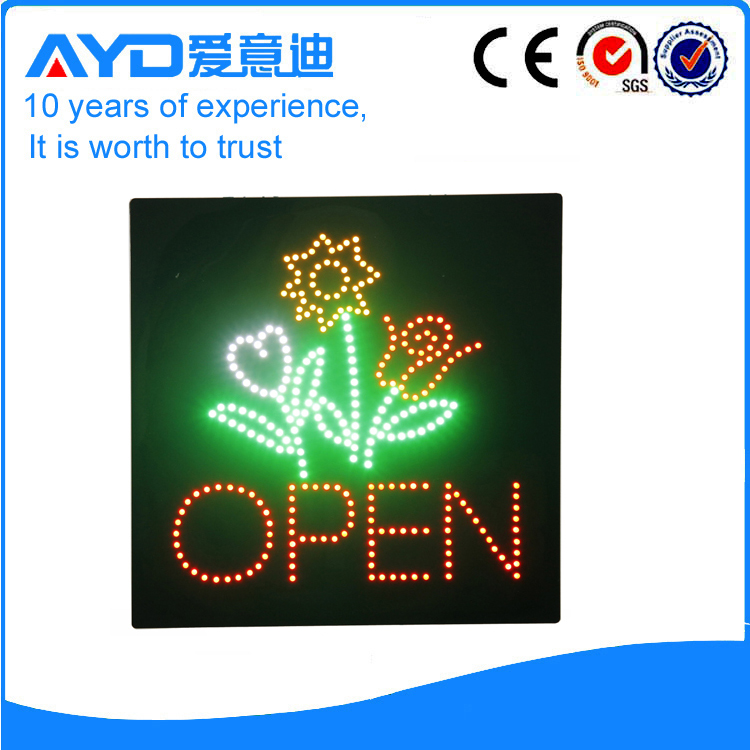 AYD Flower LED Open Sign title=
