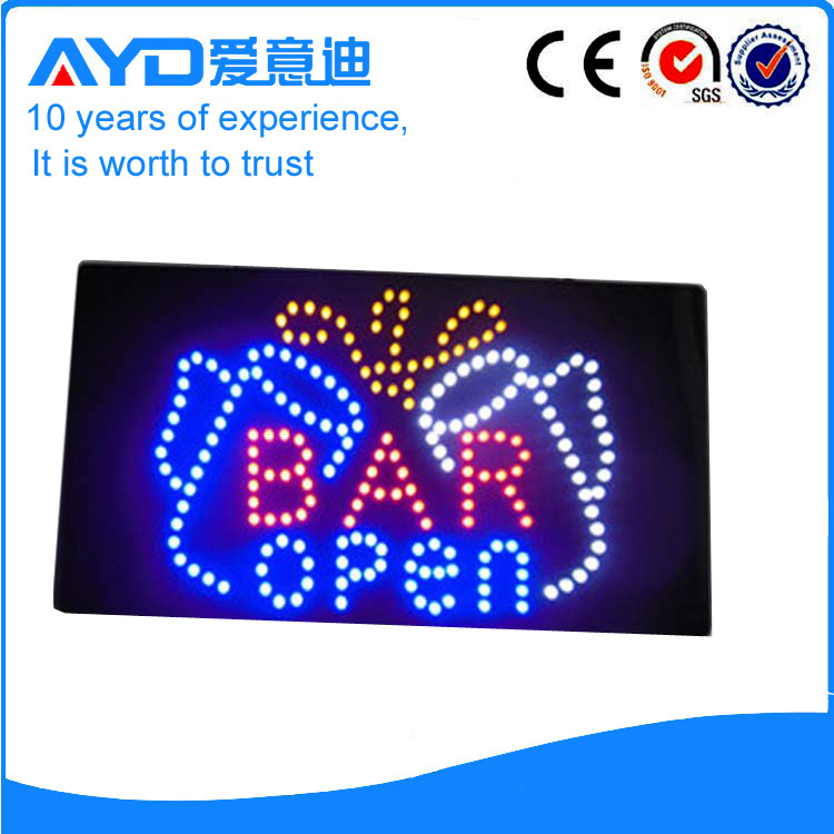 AYD Good Price LED Bar Open Sign