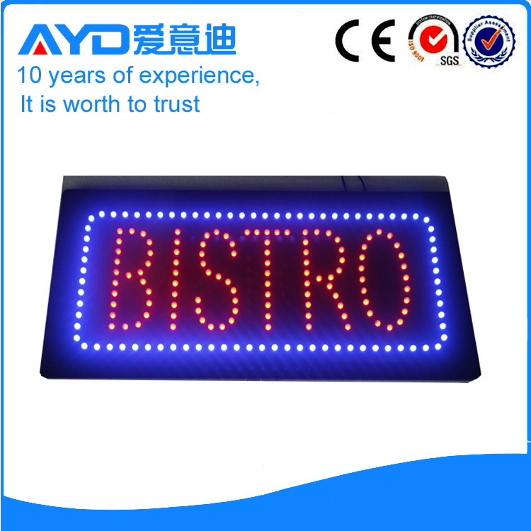 AYD Good Price LED Bistro Sign
