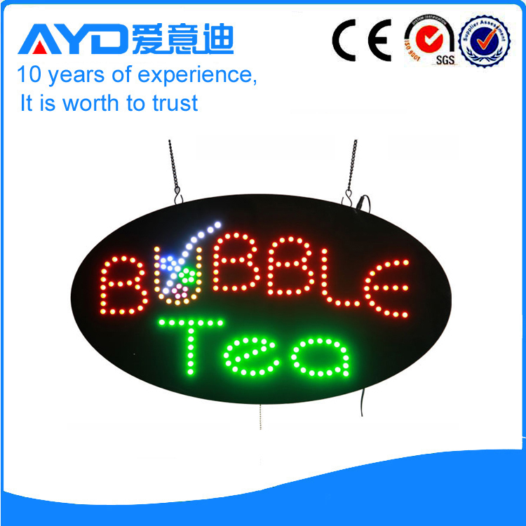 AYD Good Price LED Bubble Tea Sign