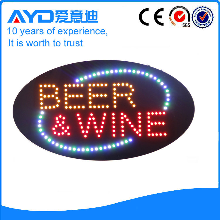 Indoor Good Price LED Beer&Wine Sign