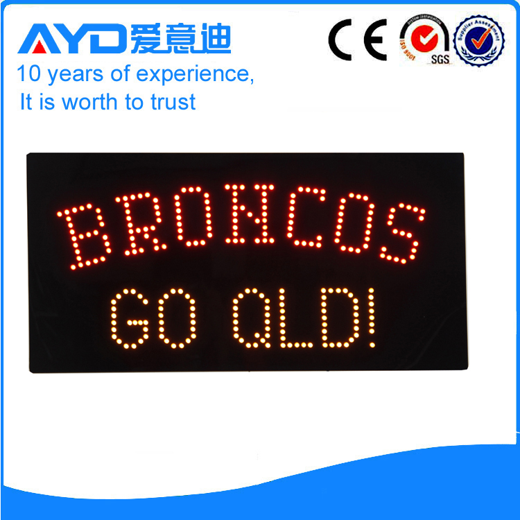 Indoor Good Price LED Broncos Sign