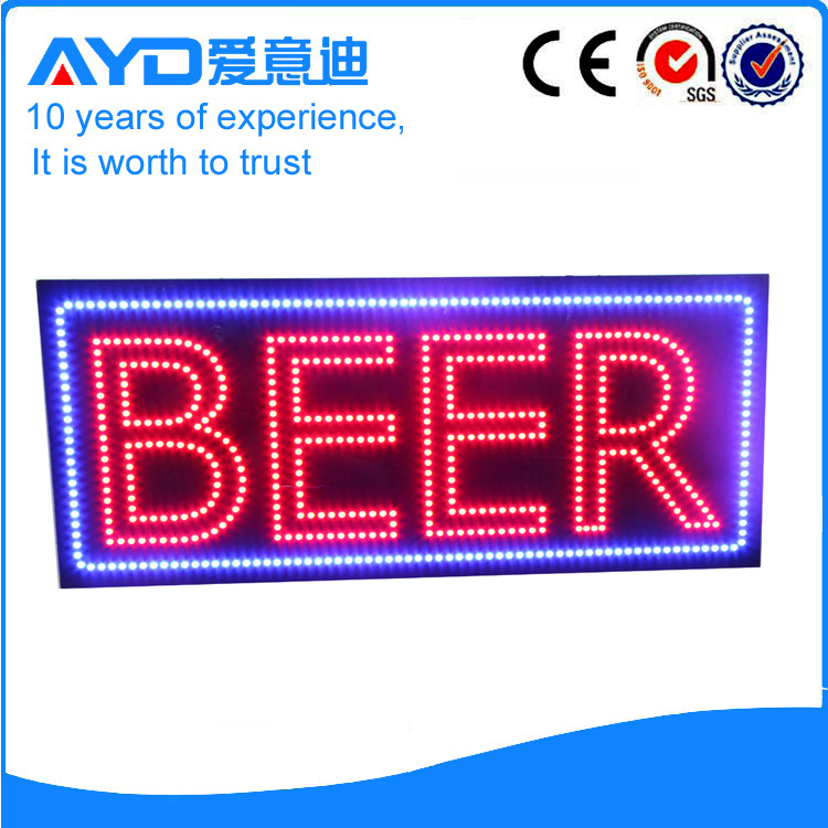 Indoor Good Price LED Beer Sign