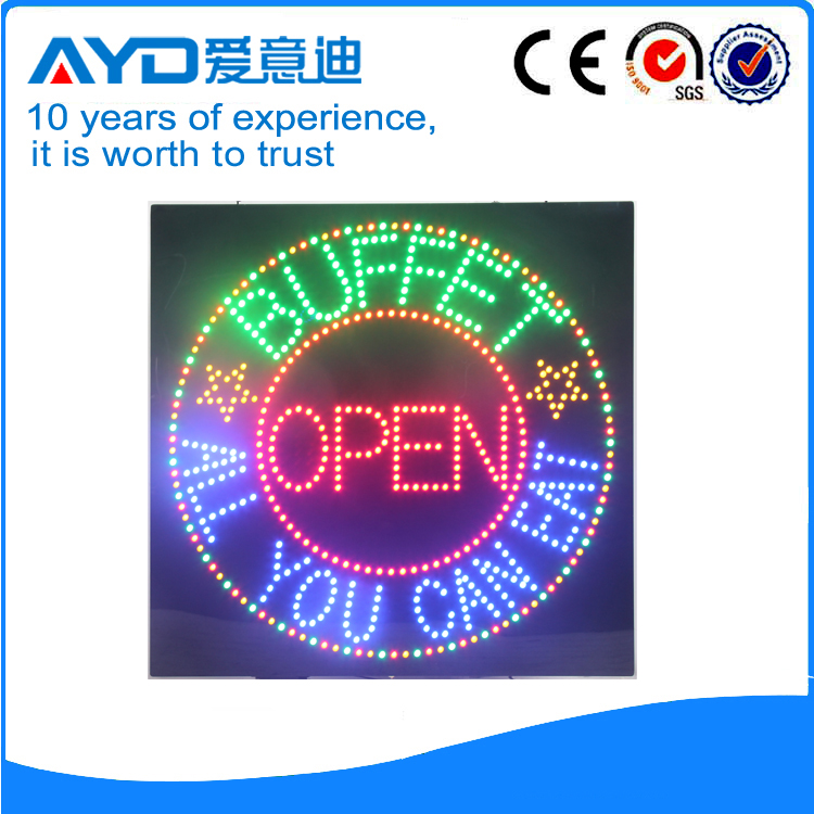 Indoor Good Design  LED Buffet Open Sign