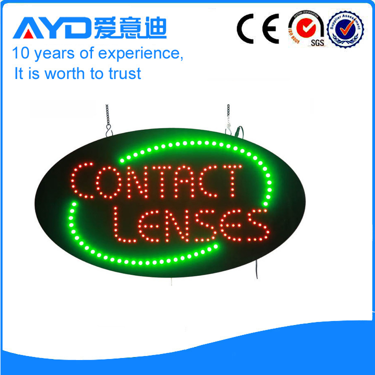 AYD Good Price LED Contact Lenses Sign