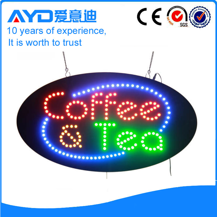 AYD Good Price LED Coffee&Tea Sign