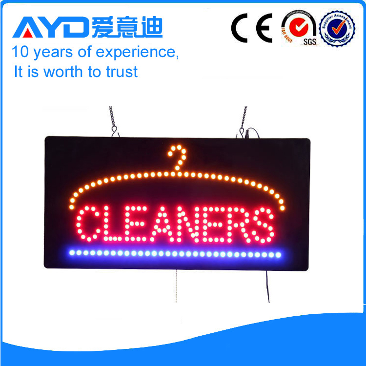 AYD Good Price LED Cleaners Sign