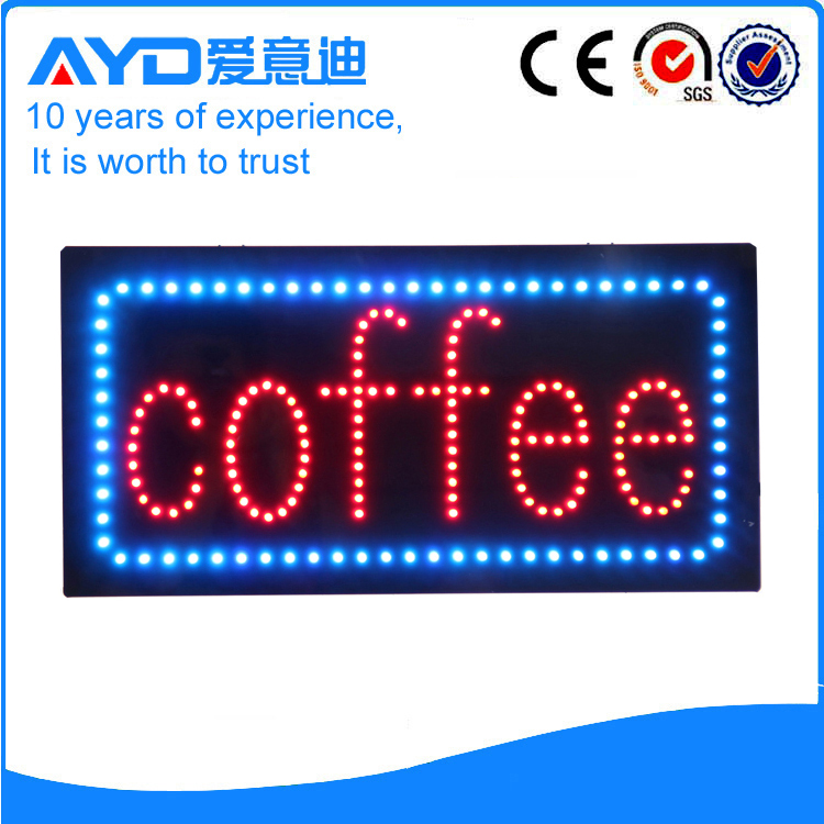 AYD Unique Design LED Coffee Sign
