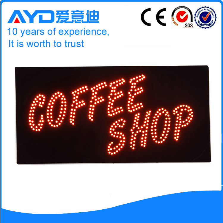 AYD Good Price LED Coffee Shop Sign