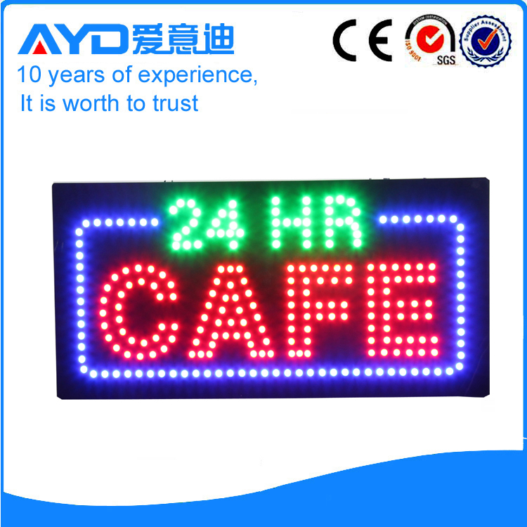 AYD LED 24Hrs Cafe Sign