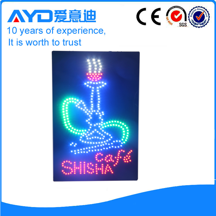 AYD Unique Design LED Cafe Shisha Sign