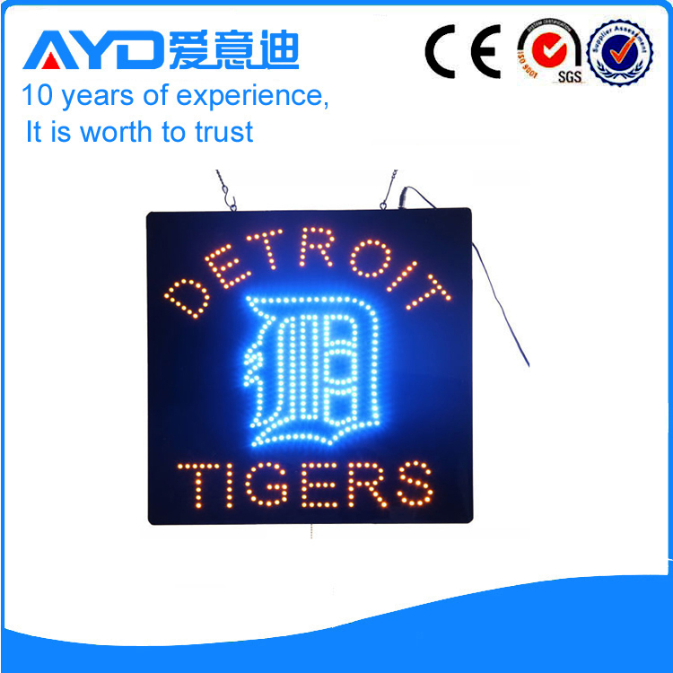 AYD LED Detroit Tigers Sign