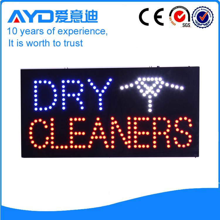 AYD Unique Design LED Dry Cleaners Sign