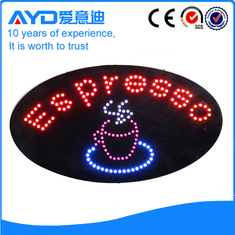 AYD Good Price LED Espresso Sign