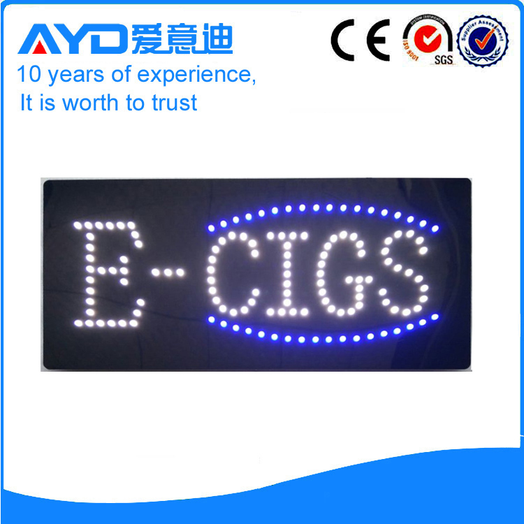 AYD Good Price LED E-Cigs Sign