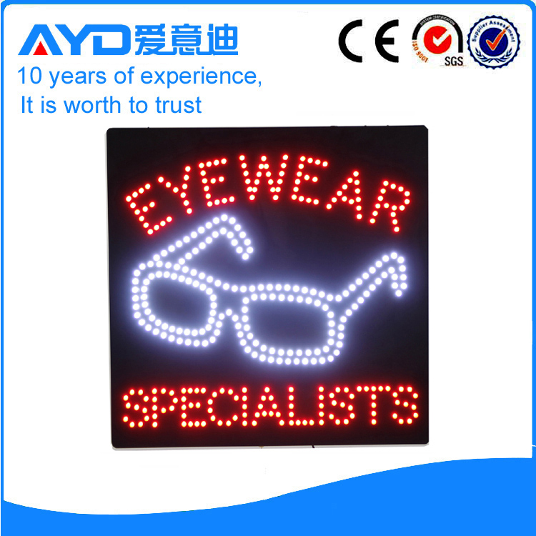 AYD Good Price LED Eyewear Sign