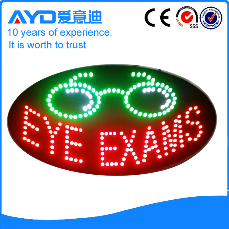 AYD Good Price LED Eye Exams Sign