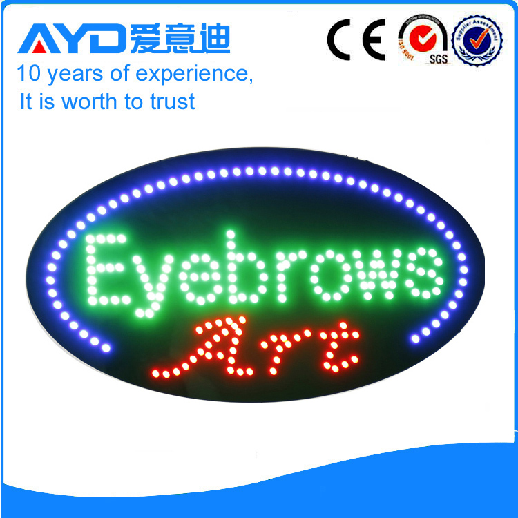 AYD Good Price LED Eyebrows Sign