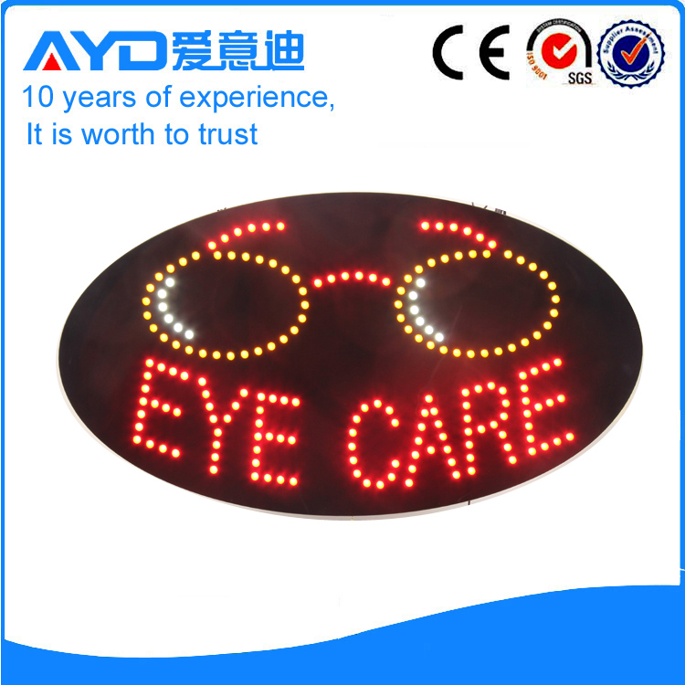 AYD Good Price LED Eye Care Sign