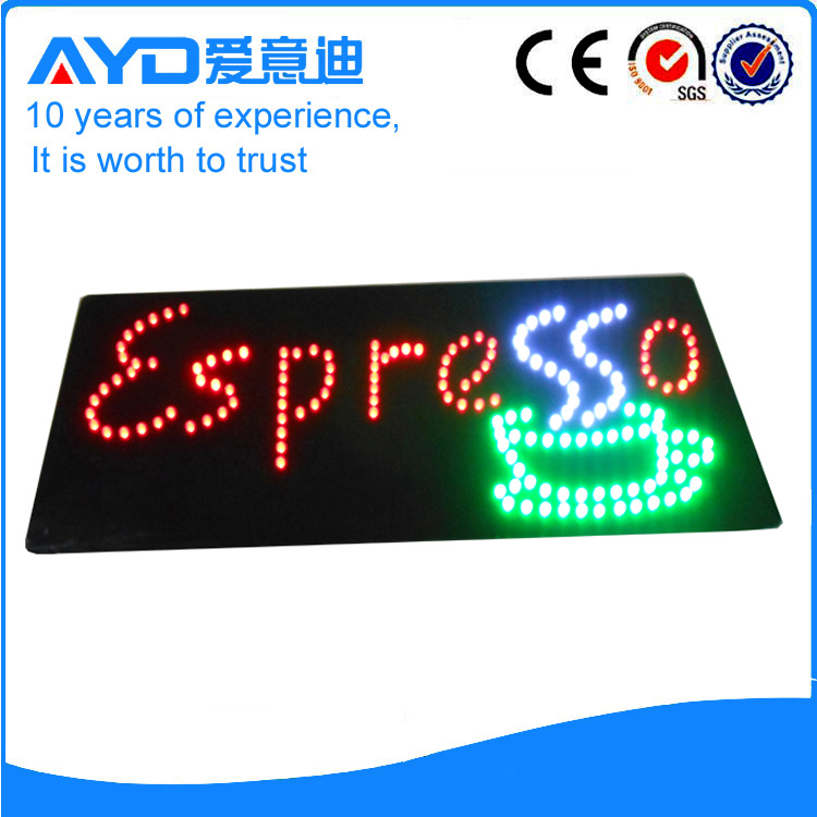 AYD Good Design LED Espresso Sign