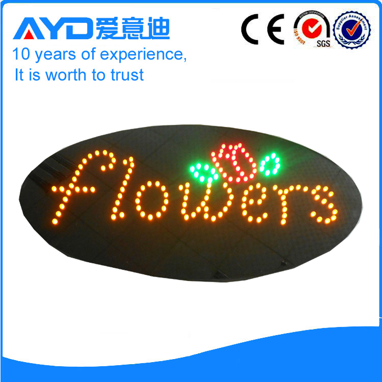 AYD Good Price LED Flowers Sign