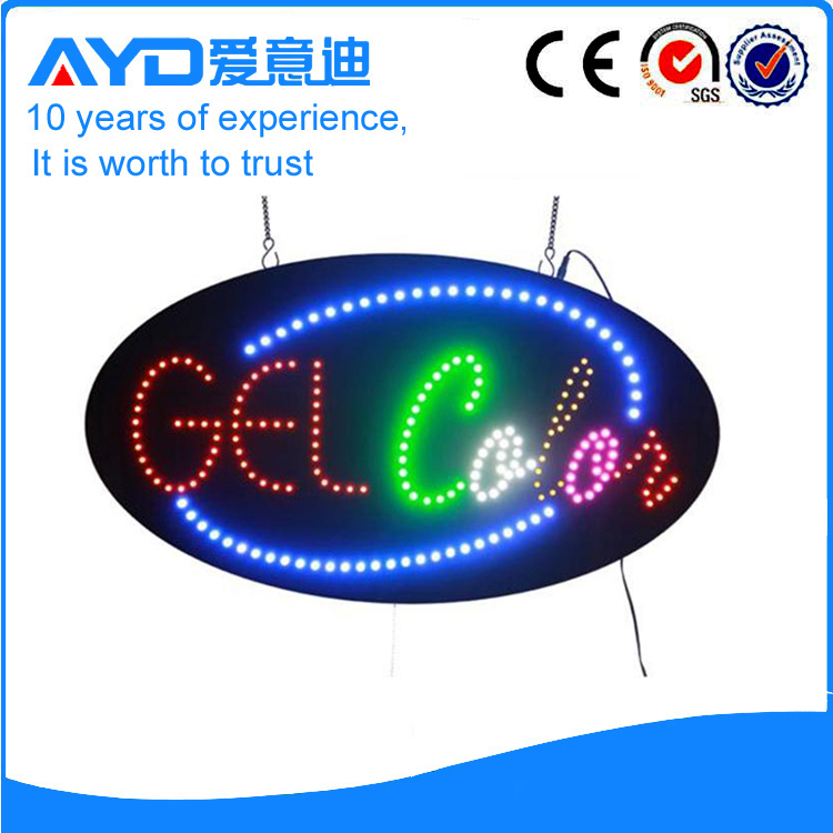 AYD Unique Design LED Gel Sign