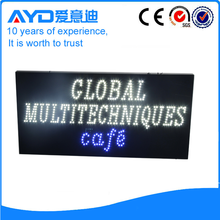 AYD LED Global Multi Technique Cafe Sign