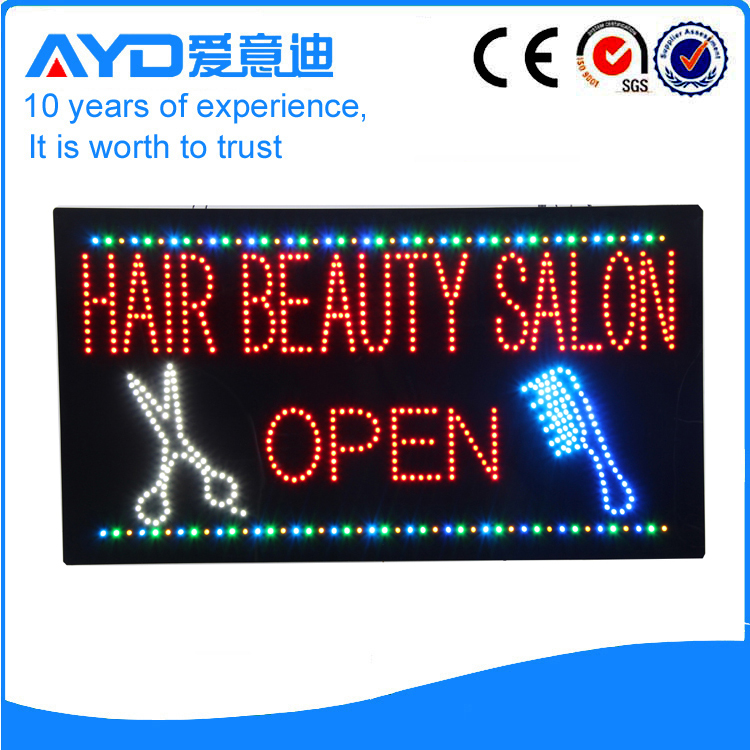 AYD Unique Design LED Hair Salon Sign