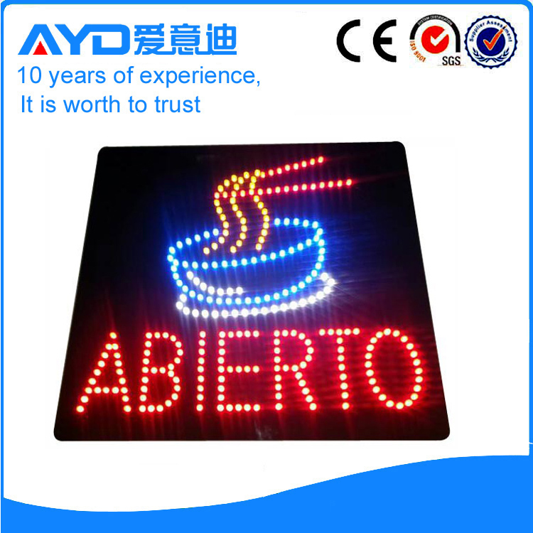 Indoor New Design LED Abierto Sign