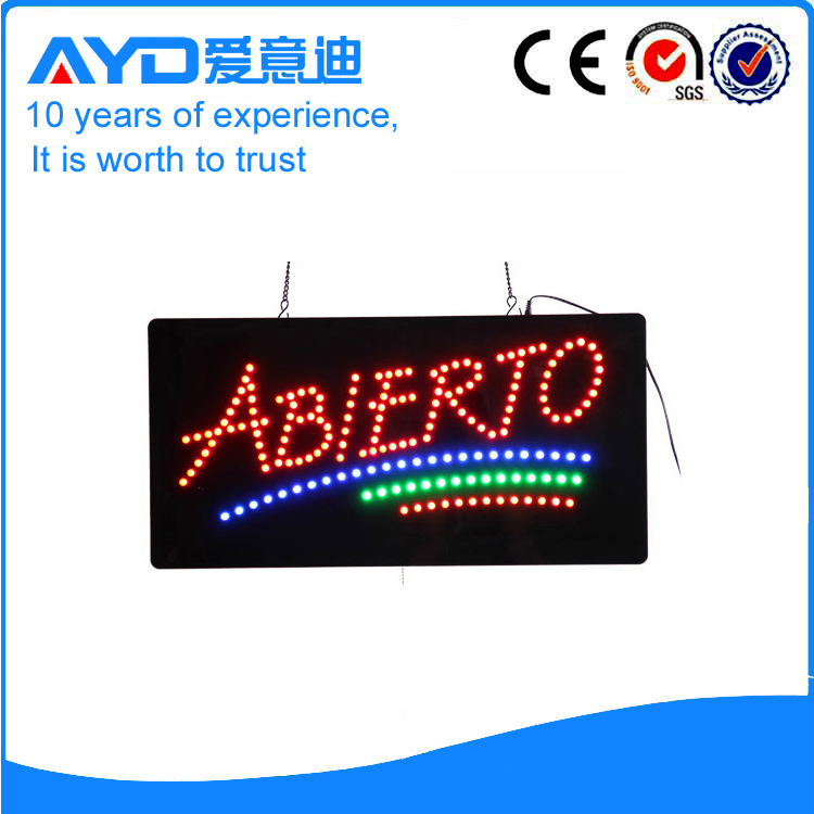 AYD New Design LED Abierto Sign