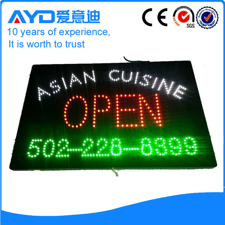AYD Good Price LED Asian Cuisine Open Sign