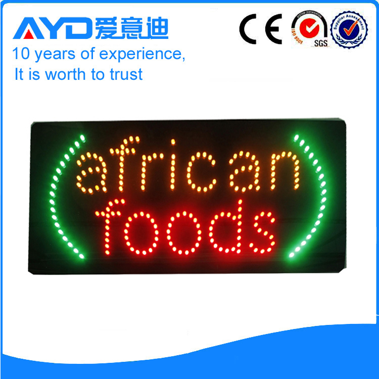 AYD Good Price LED African Foods Sign