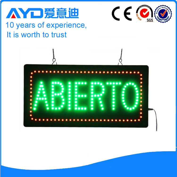 AYD Good Price LED Abierto Sign