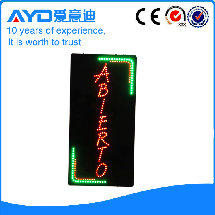 AYD Unique Design LED Abierto Sign