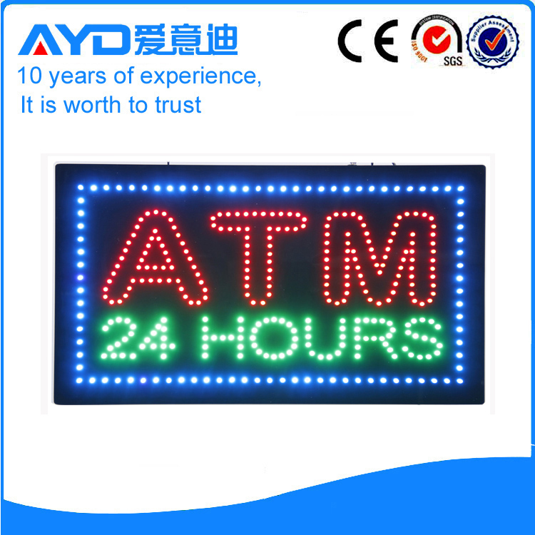 AYD Unique Design LED ATM 24Hours Sign