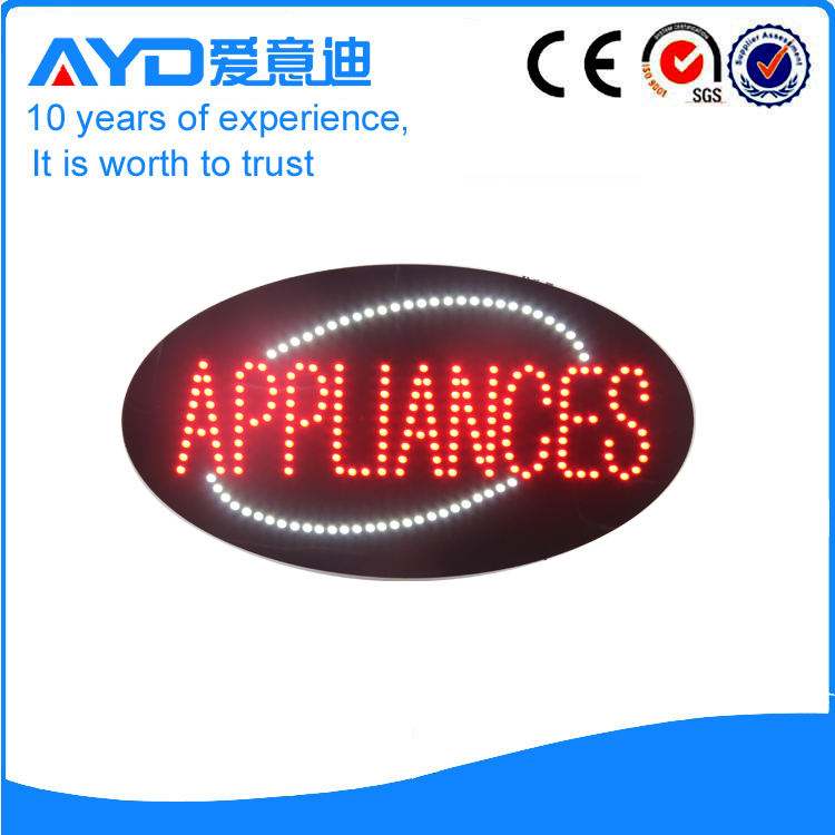 AYD Good Price LED Appliances Sign
