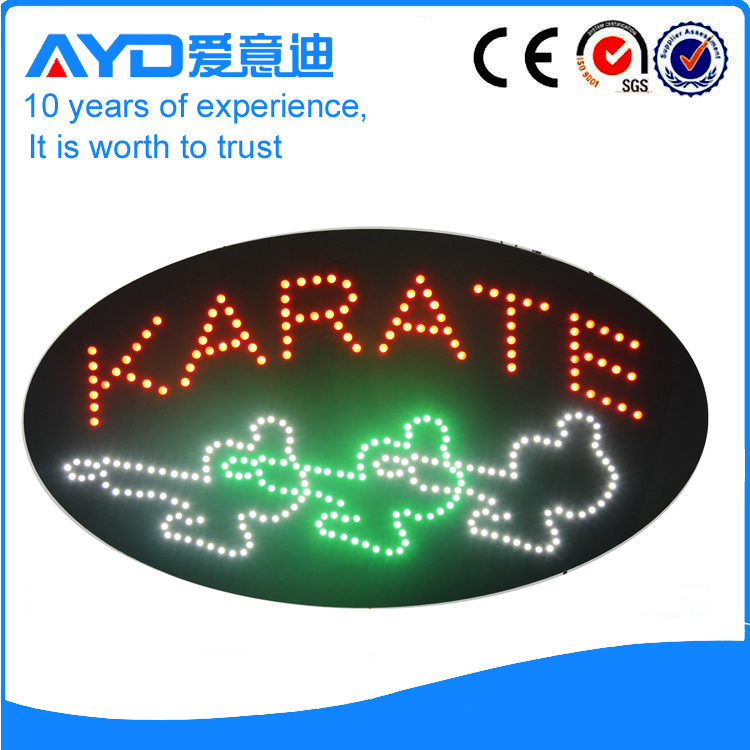 AYD Unique Design LED Karate Sign