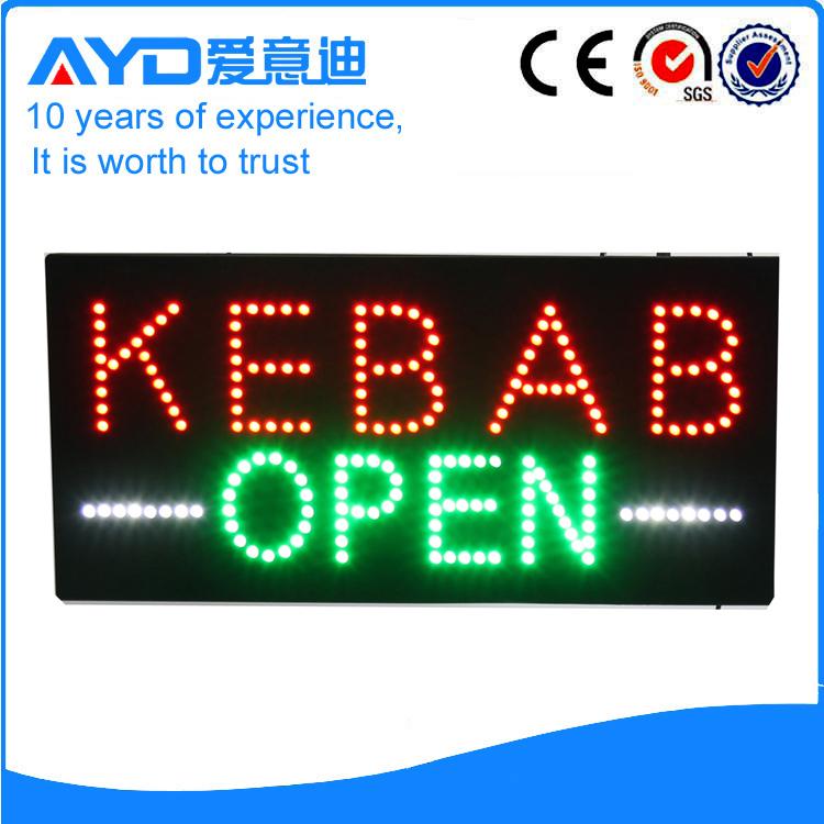 ayd good price led kebab open sign. Black Bedroom Furniture Sets. Home Design Ideas