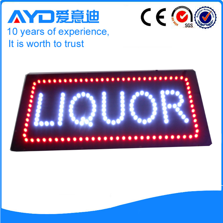 AYD Good Price LED Liquor Sign