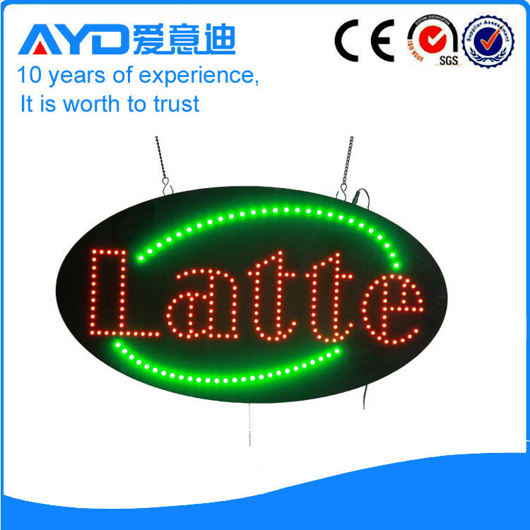 AYD Good Price LED Latte Sign