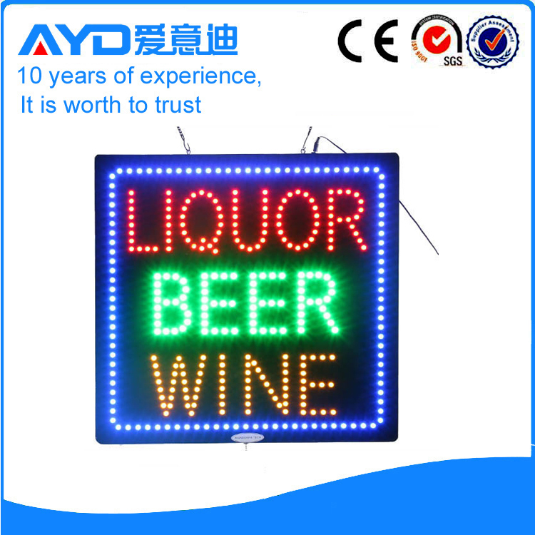 AYD Good Price LED Liquor Beer Wine Sign