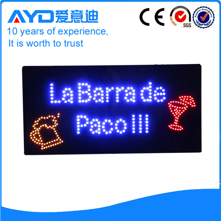 AYD LED La Barra De Pacolll Sign