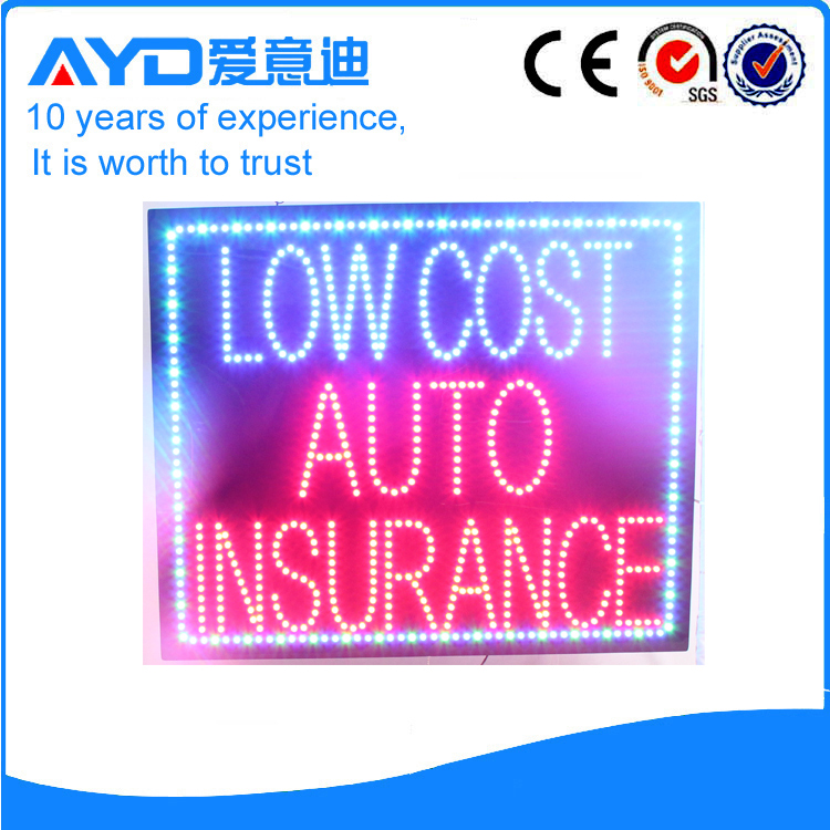AYD Low Cost Auto Insurance Sign