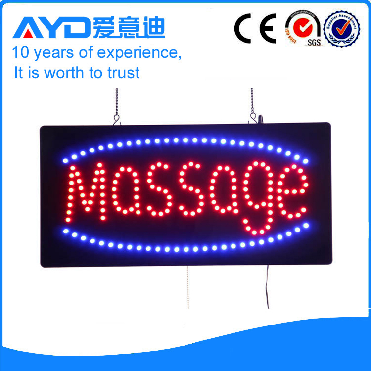 ayd good design led massage sign. Black Bedroom Furniture Sets. Home Design Ideas